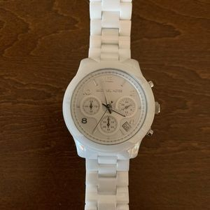 Michael Kors gorgeous white time piece.